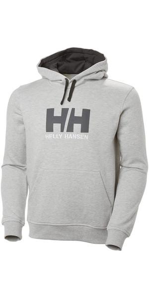2019 Helly Hansen HH Logo Hoodie Grey Melange 33977