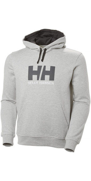 2018 Helly Hansen HH Logo Hoody Grey Melange 33977