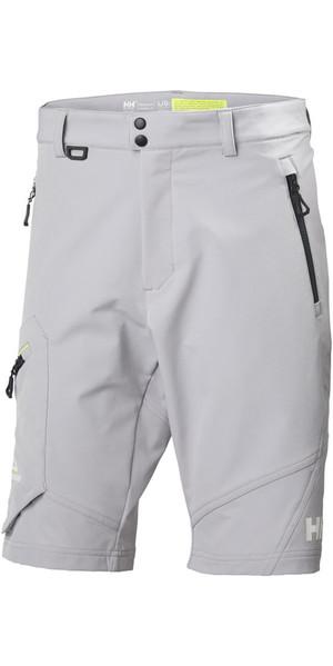 2018 Helly Hansen HP Softshell Shorts Silver Grey 53052