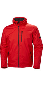 2021 Helly Hansen Hooded Crew Mid Layer Jacket Alert Red 33874