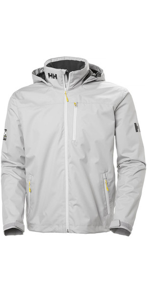 2019 Helly Hansen Hooded Crew Mid Layer Jacket Silver Grey 33874