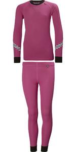 2019 Helly Hansen Junior Lifa Active Thermal Base Layer Set Pink 26665