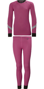 2019 Helly Hansen Junior Lifa Active Thermal Base Layer Set Pink 26665