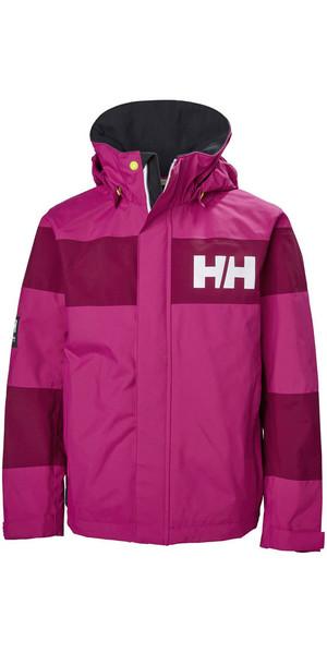 2018 Helly Hansen Junior Salt Port Jacket Very Berry 41634