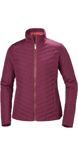 2018 Helly Hansen Womens Crew Insulator Jacket Plum 53030