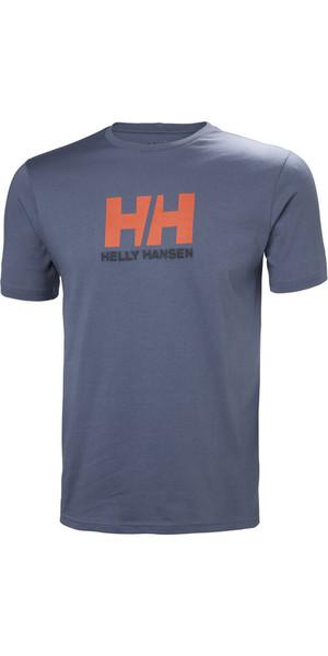 2018 Helly Hansen Logo T-Shirt Vintage Indigo 33979