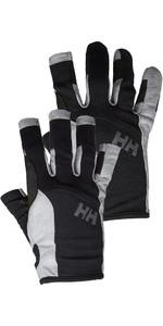 Helly Hansen Long Finger & Short Sailing Glove Twin Package - Black