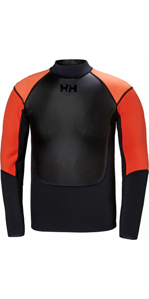 2019 Helly Hansen Mens 2mm Water Wear Neoprene Jacket Black 34016