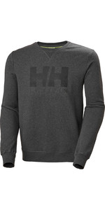 2020 Helly Hansen Mens HH Logo Crew Sweat 34000 - Ebony Melange