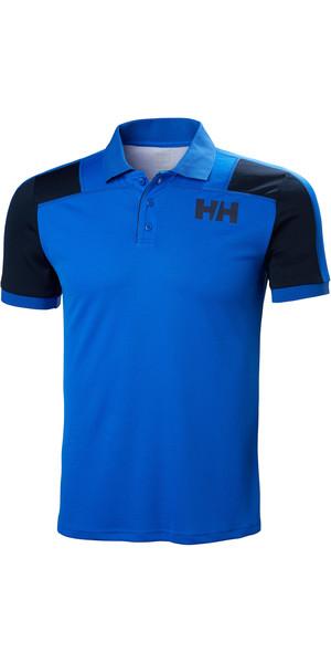 2019 Helly Hansen Mens Lifa Active Light Short Sleeve Polo Olympian Blue 49322