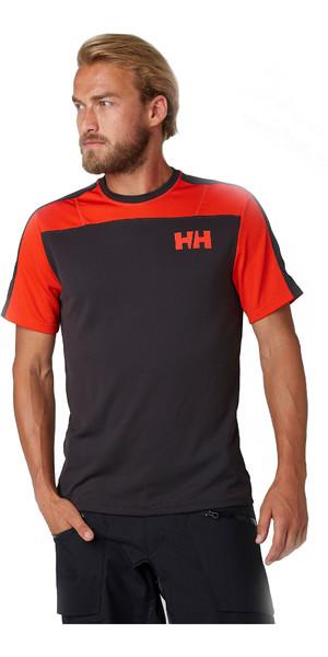 2019 Helly Hansen Mens Lifa Active Light Short Sleeve T-Shirt Ebony 49330