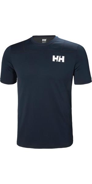 2019 Helly Hansen Mens Lifa Active Light Short Sleeve T-Shirt Navy 49330