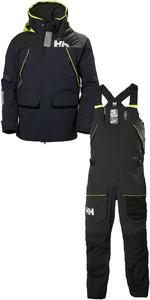 2019 Helly Hansen Mens Skagen Offshore Jacket & Trouser Combi Set HHMSKN - Navy / Ebony