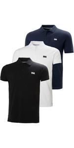 Helly Hansen Mens Transat Polo Shirt Triple Pack - Black/White / Navy
