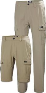 Helly Hansen Mens QD Cargo Trousers & Shorts Package - Fallen Rock