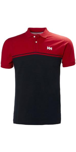 2018 Helly Hansen Salt Polo Shirt Flag Red 33939