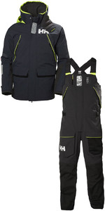 2019 Helly Hansen Skagen Offshore Jacket 33907 & Trouser 33908 Combi Set Navy / Ebony