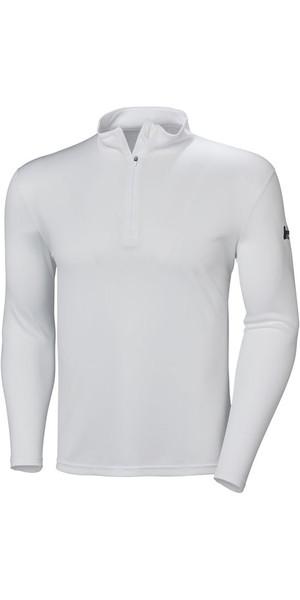2018 Helly Hansen Tech 1/2 Zip Long Sleeve Base Layer White 48365