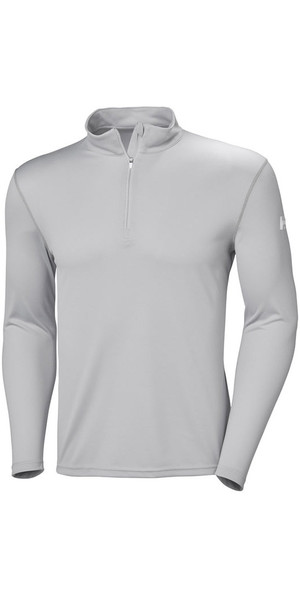 2018 Helly Hansen Tech 1/2 Zip Long Sleeve Base Layer Light Grey 48365