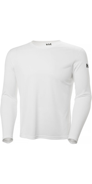 2018 Helly Hansen Tech Crew Long Sleeve Base Layer White 48364