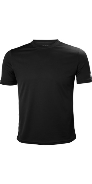 2018 Helly Hansen Tech T Short Sleeve Base Layer Ebony 48363