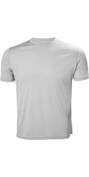 2018 Helly Hansen Tech T Short Sleeve Base Layer Light Grey 48363