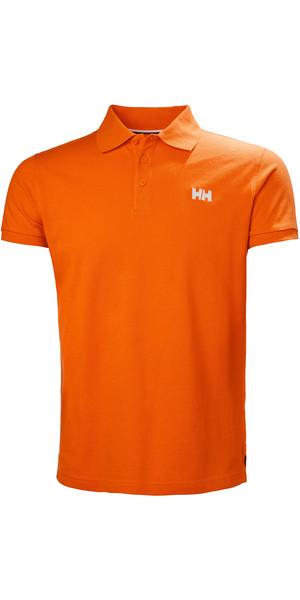 2019 Helly Hansen Transat Polo Shirt Blaze Orange 33980