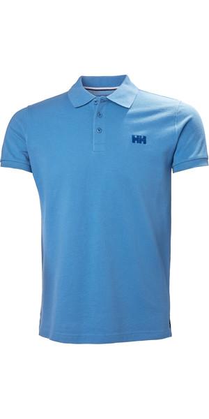 2019 Helly Hansen Transat Polo Shirt Cornflower Blue 33980