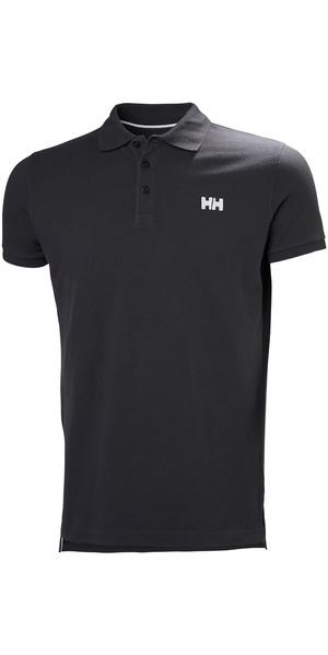 2018 Helly Hansen Transat Polo Shirt Ebony 33980