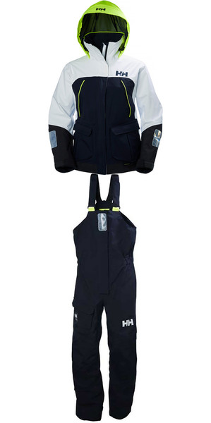 2019 Helly Hansen Womens Pier Coastal Jacket 33886 & Trouser 33901 Combi Set in Navy