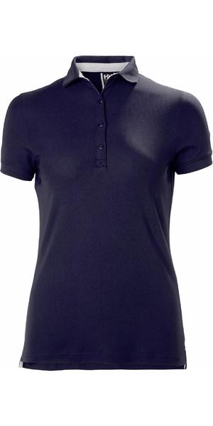 2019 Helly Hansen Womens Crewline Polo Shirt Navy 53049