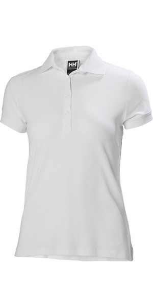 2019 Helly Hansen Womens Crewline Polo Shirt White 53049