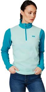2019 Helly Hansen Womens Daybreaker 1/2 Zip Fleece Blue Tint 50845