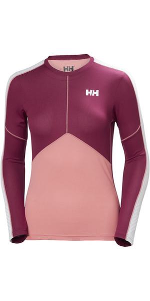 2018 Helly Hansen Womens Lifa Active Light Long Sleeve T Shirt Shell Pink 48369