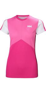 2019 Helly Hansen Womens Lifa Active Light Short Sleeve Top Dragon Fruit 49328