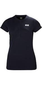 2019 Helly Hansen Womens Lifa Active Light Short Sleeve Top Graphite Blue 49328