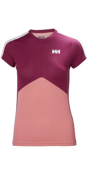 2018 Helly Hansen Womens Lifa Active Light T Shirt Shell Pink 48370