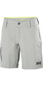 2019 Helly Hansen Womens QD Cargo Shorts Grey Fog 33942