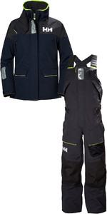 2020 Helly Hansen Womens Skagen Offshore Jacket & Trouser Combi Set HHSKN - Navy / Ebony