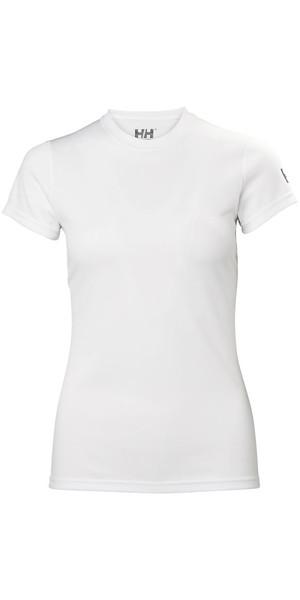 2018 Helly Hansen Womens Tech T Short Sleeve Base Layer White 48373