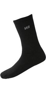 2020 Helly Hansen everyday Wool Socks 2-Pack 67481 - Black