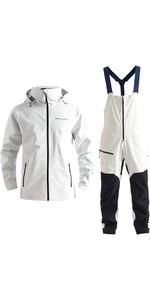 2020 Henri Lloyd Mens M-Course 2.5 Layer Inshore Jacket & Trouser Combi Set - White