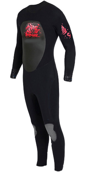 BODYGLOVE Kids Full 3/2mm Wetsuit in BLACK / RED