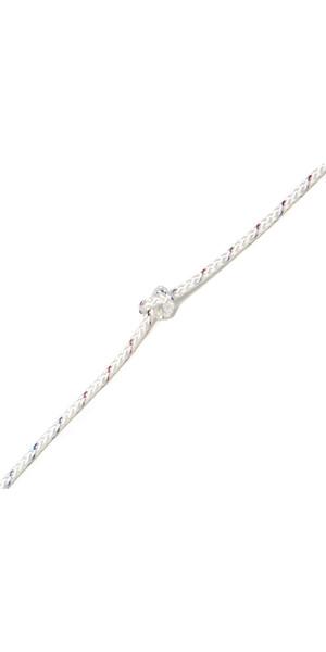 Kingfisher 8 Plait Standard Polyester General Purpose Dinghy Rope White STW2 - Price per metre.