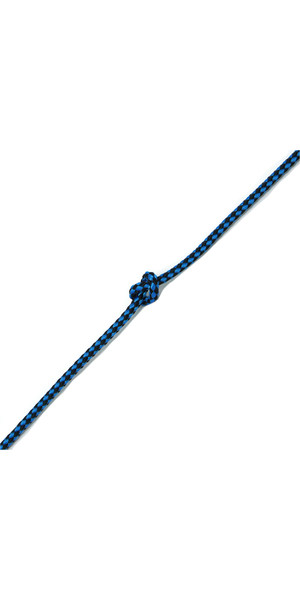 Kingfisher Evolution 8 Plait Pre-Stretched Dinghy Rope Blue / Black PS0X2 - Price per metre.