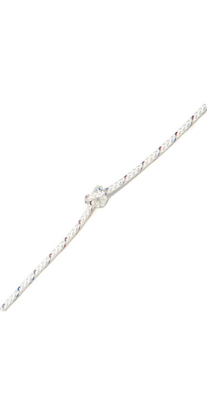 Kingfisher Evolution 8 Plait Pre-Stretched Dinghy Rope White PS0W2 - Price per metre.