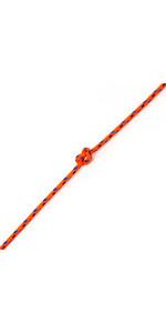 Kingfisher Evolution Performance Dinghy Rope Orange CL002 - Price per metre.