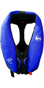 Kru Elite 195N Automatic Lifejacket With Harness + Hood Ocean Blue LIF7423