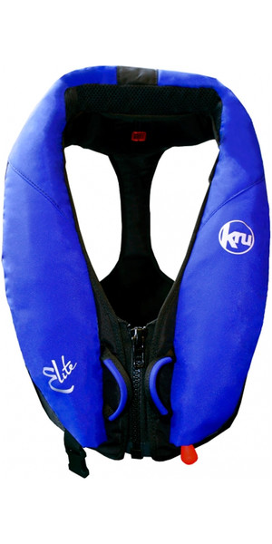 Kru Elite 195N Automatic Lifejacket With Harness + Hood Ocean Blue LIF7423