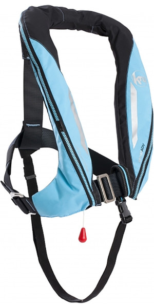 2018 Kru Sport 170N ADV Manual Lifejacket with Harness, Hood & Light Sky Blue LIF7364